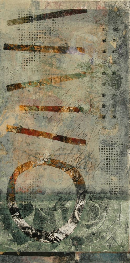 """Up from the Depths, by Anne Moore, monotype, 20.5""""X 10"""""""