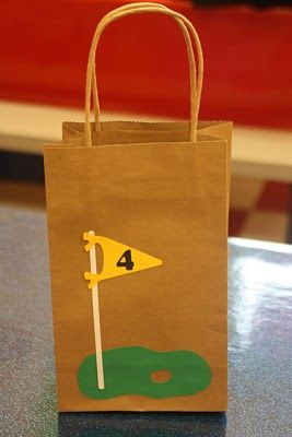 Goody bags for golf party