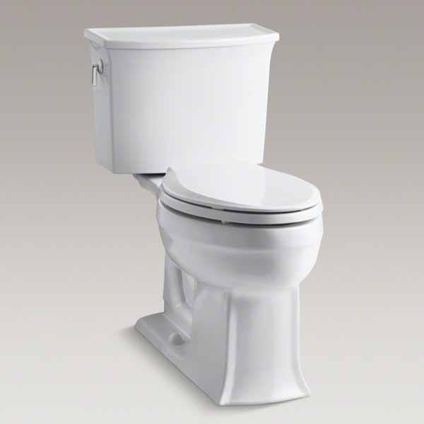 "Description: Archer two-piece toilet Vitreous China 29"" x 17-7/8"" x 30""  Kohler toilet models include: - Traditional toilets - One piece toilets - Two piece toilets - Wall mount toilets - Contemporary toilets - Comfort height toilets - Water saving toiletsRead More"