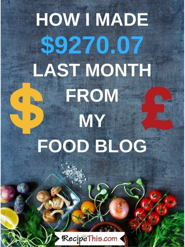 How To Start A Food Blog   Food Blogging Income Report January 2018