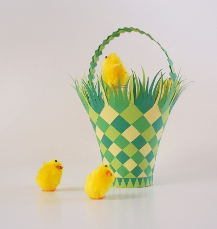 Easter Basket - MANY other paper weaving projects at this site