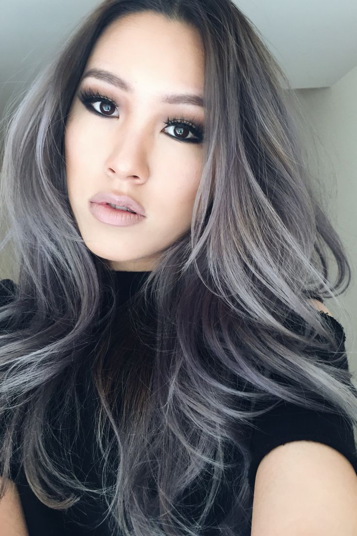 Smokey with nude | My makeup | Hair, Ash grey hair, Silver ...