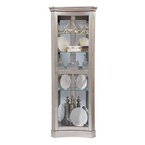 Veronica Curio Cabinet Concave Corner