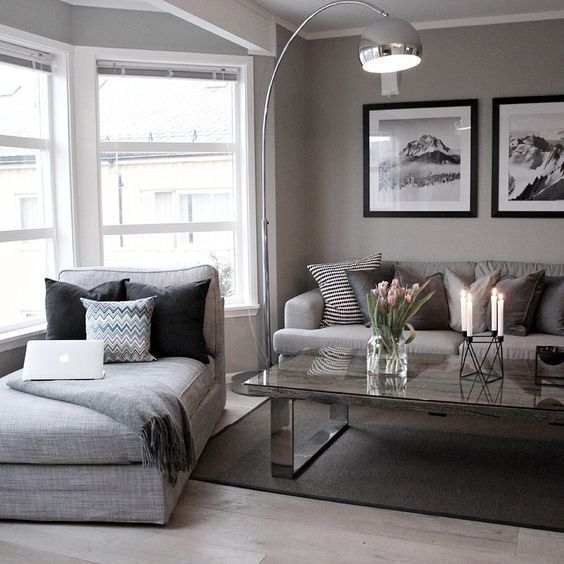 Love the Chaise. ( corner living room?) #LampWohnzimmer