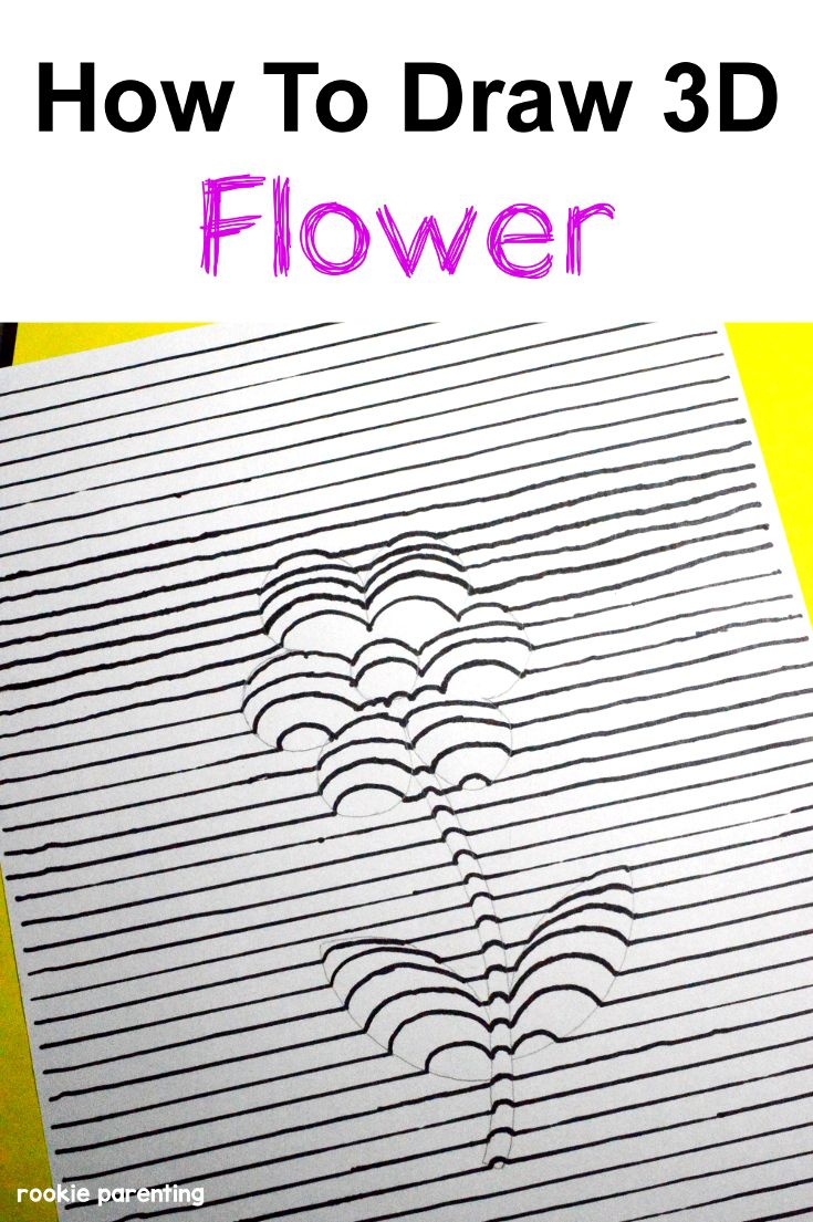 Draw A 3D Flower | Eye Science | Visual Experiment