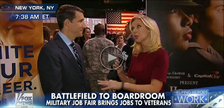 Ben Lamm - Capital One - Fox & Friends interview - Cheryl Casone - Hiring our Heroes - 69th Regiment Armory NYC - Mar '14