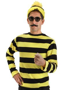Elope: Buy Hats & licensed products for Halloween, costume parties, holidays; Where's Waldo Odlaw Costume by elope - S/M
