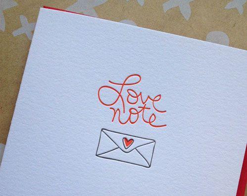 Love Note Letterpress Card by Deluce Design