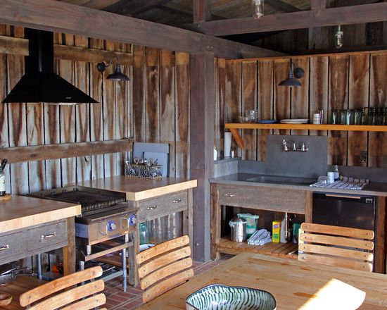 97 best outdoor kitchen images on pinterest for Rustic outdoor kitchen ideas