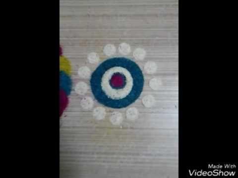 Rangoli by waste bottle / / tricks of rangoli// simple method to make rangoli by nidhi jain - YouTube