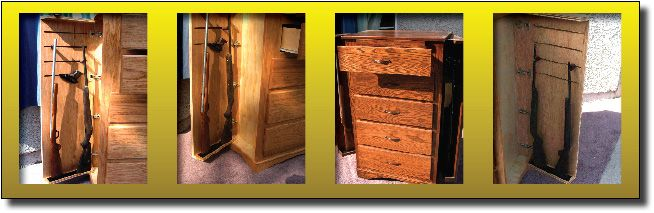 Covert Furniture Chest of Drawers with Rifle Storage