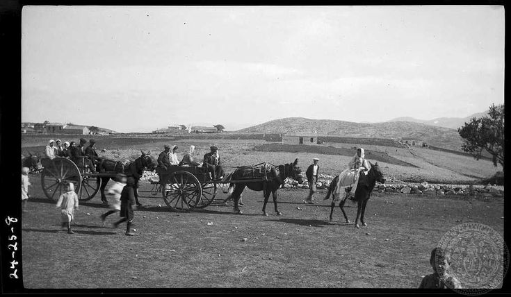Greece; Boeotia; Leuctra; Parapoungia. Wedding guests. Creator:   Dorothy Burr Thompson Site:   Leuctra Region:   Boeotia Country:   Greece Date:1924 Repository:  ASCSA ARCHIVES Collection Title:Dorothy Burr Thompson
