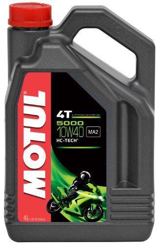 Motul 104056 5000 4T Huile pour moto à moteur 4 temps 10W-40 4L: L'huile Moteur Motul 5000 4T 10W40 est faite pour Motos routières,…