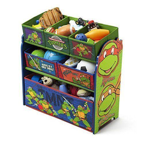 Ninja Turtles Toy Storage Box Multi-Bin Basket Drawer Organizer Kids Playroom #DeltaChildren