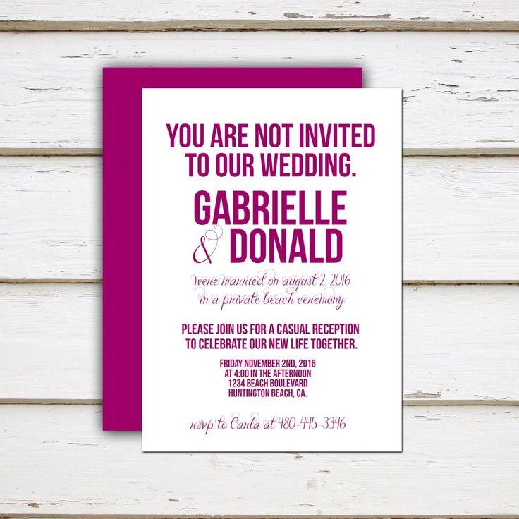 The 25 best Casual wedding invitation wording ideas – Funny Wedding Invitation Quotes