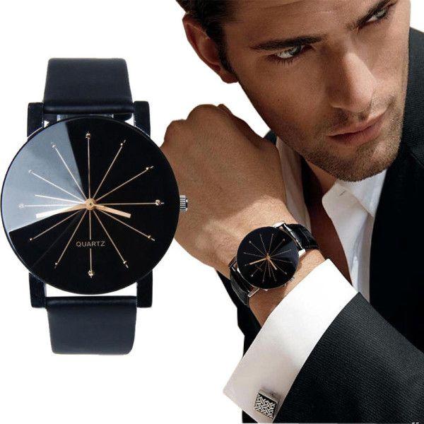 Relojes para hombre, de lujo, grandes firmas, Quarzt. Negro y dorado, minimalista.