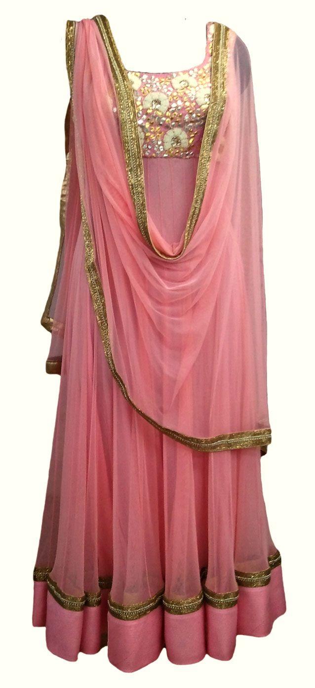 Victorian Gold Anarkali — IFE Deepak Shekhar — Formal Salwaar Kameez | Indianhanger.com