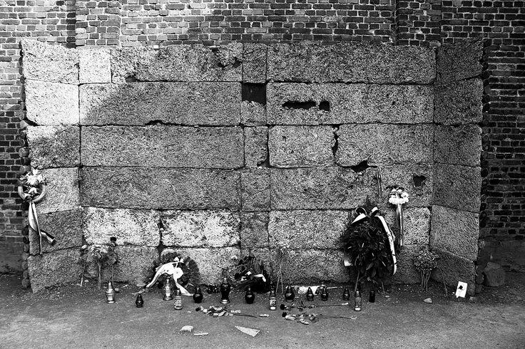 Execution wall at the yard of BLock 11. (by Elina Maurinen)
