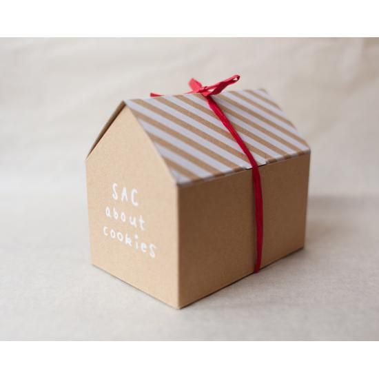 Turn this idea into a gingerbread house made from cardboard to package holiday…