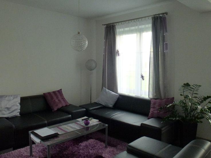 Záclony obývák - nově postavený dům v Rumburku
