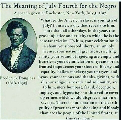 the meaning of july 4th for the slave summary