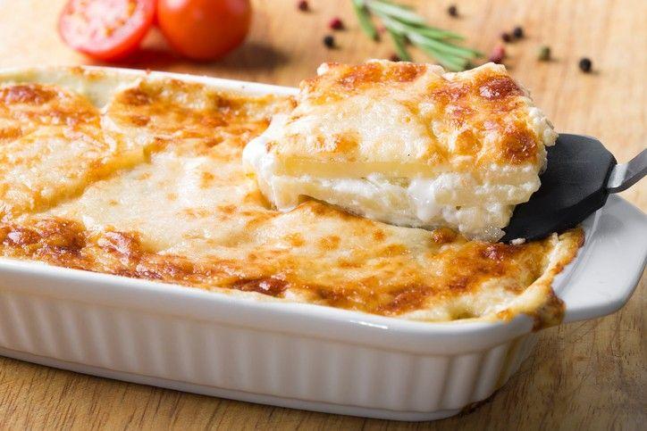 Batata Gratinada com Provolone, ótima opção de acompanhamento!  #potato #cheese #recipe #delicious