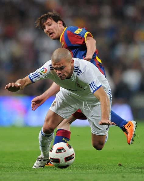 Lionel Messi and Pepe