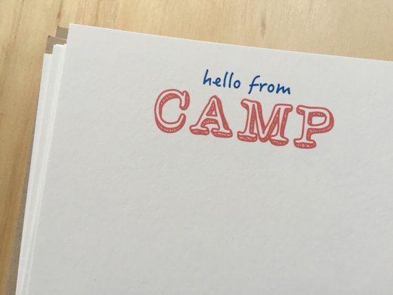 kids camp stationery vintage inspired camp by BeesKneesPaperGoods