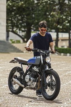 Marco di Marcello works as a physiotherapist—but fixes up motorcycles too. His custom Honda Dominator NX650 is worthy of a pro garage.