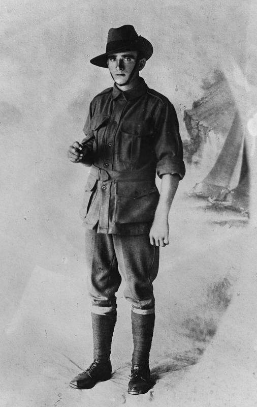 Private John Joseph Hodson died 4 August 1916, killed in action at Pozieres, Somme. Unit: 21st Battalion, Australian Imperial Force. © IWM