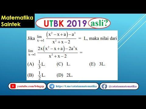 Soal Asli Utbk 2019 Matematika Saintek Integral Tentu Youtube Knowledge Education Make It Yourself