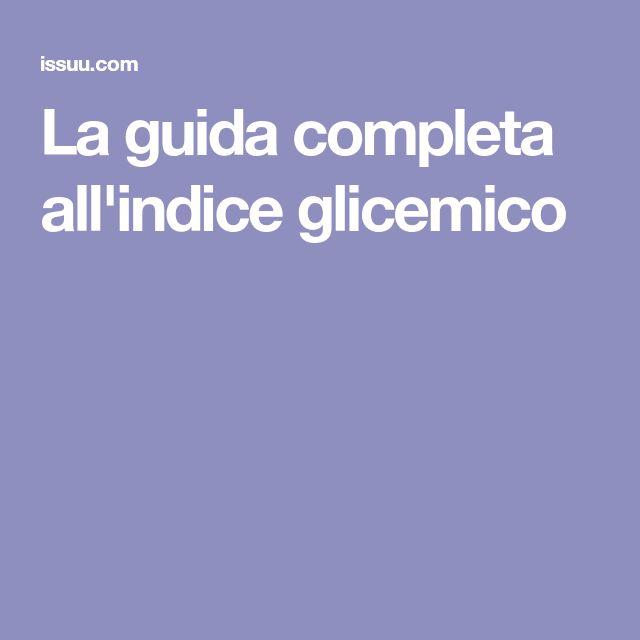 La guida completa all'indice glicemico