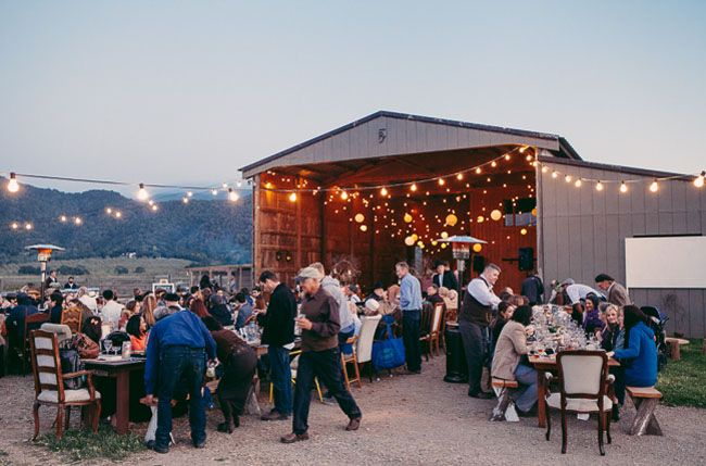 barn reception with bistro lightChildren'S Inspiration, Barns Receptions, Barns Wedding