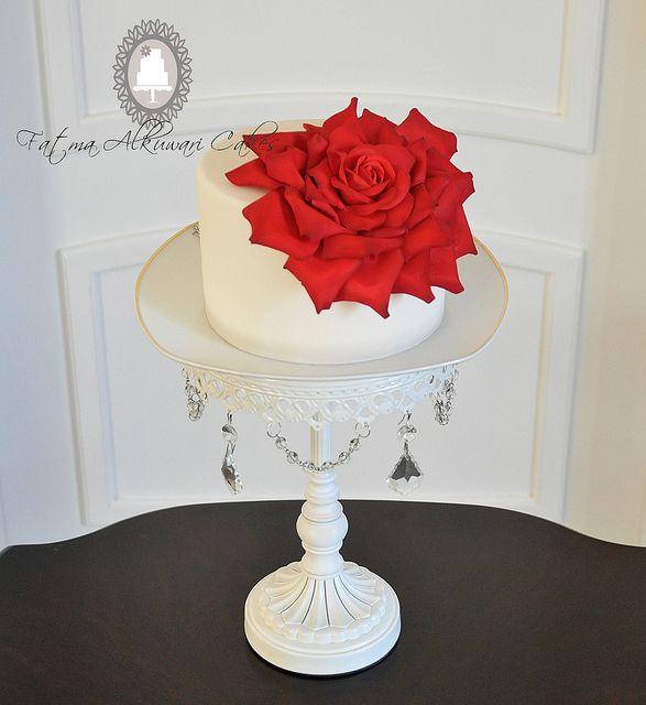 Giant Red Rose Cake