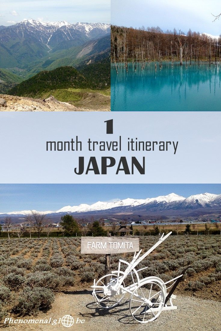There is so much to see in Japan! Not just ancient and interesting cultural highlights, amazing nature as well! Check out this 1 month itinerary around Japan including Tokyo, Hokkaido, Hiroshima, Miyajima, Nara, Koyasan, Kyoto, the Japanese Alps (Kamikochi) and Matsumoto. #Japan #travelitinerary