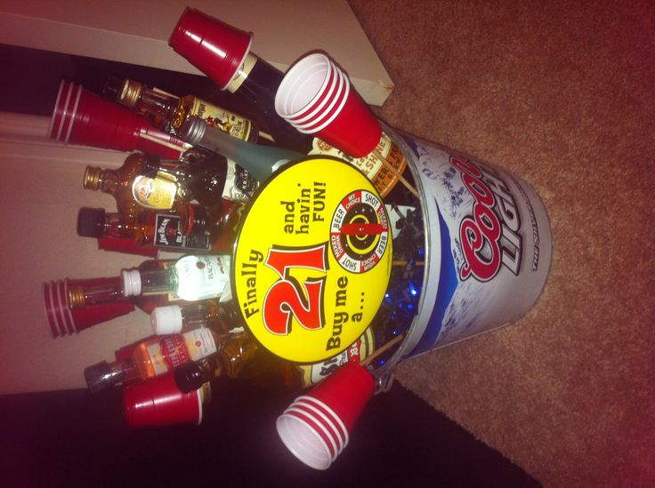 21st Birthday Gift Baskets For Him : Best images about auction items on liquor