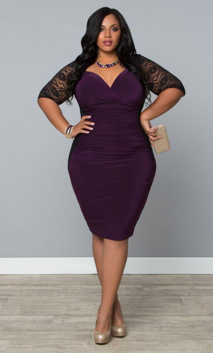 Valentina Illusion Dress- Black/Purple Passion  Trendy Curvy | Plus Size Fashion | Fashionista | Shop online at www.curvaliciousclothes.com TAKE 15% OFF Use code: SVE15 at checkout