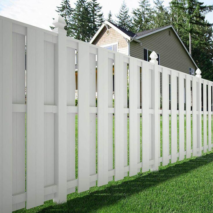 White Shadow Box Fence                                                                                                                                                                                 More