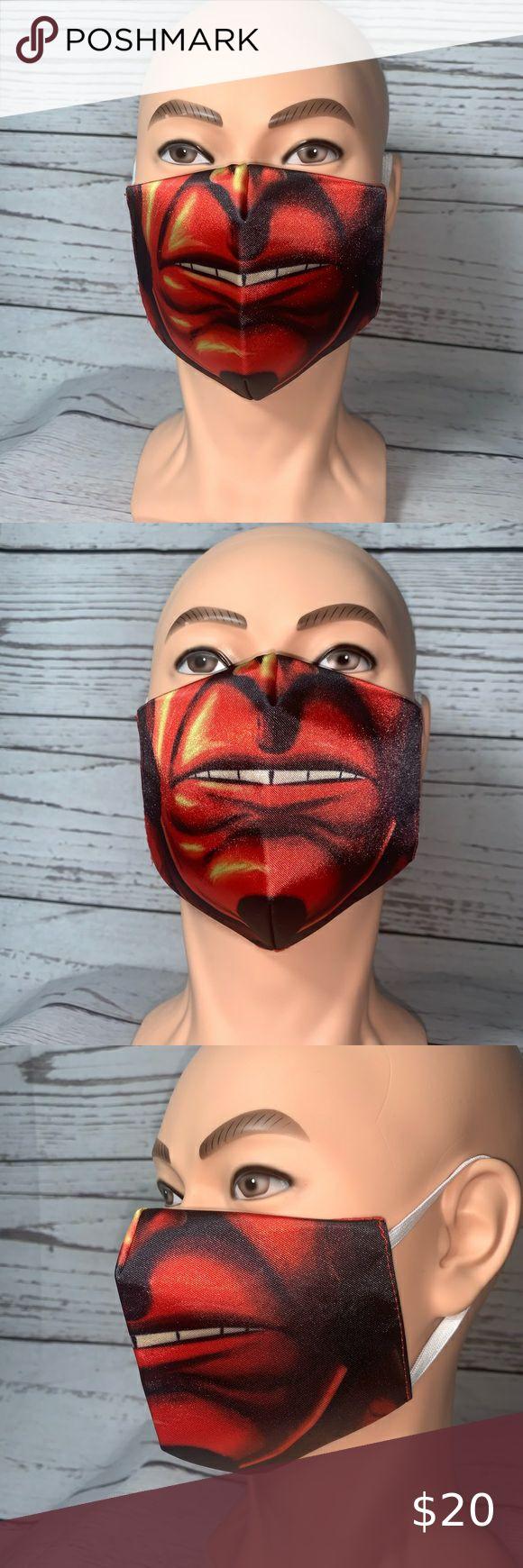 Hellboy Face Mask NEW in 2020 Face mask, Face, Custom design