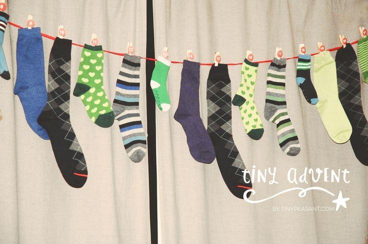 tinypeasant.com | Tiny Advent series | Sock Calendar + Gift Ideas http://tinypeasant.com/2014/11/advent-in-the-home-heart/