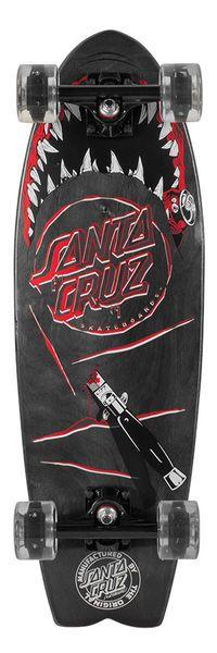 Santa Cruz Skateboards: Cruzers: 8.8in x 27.7in Night Shark Cruzer