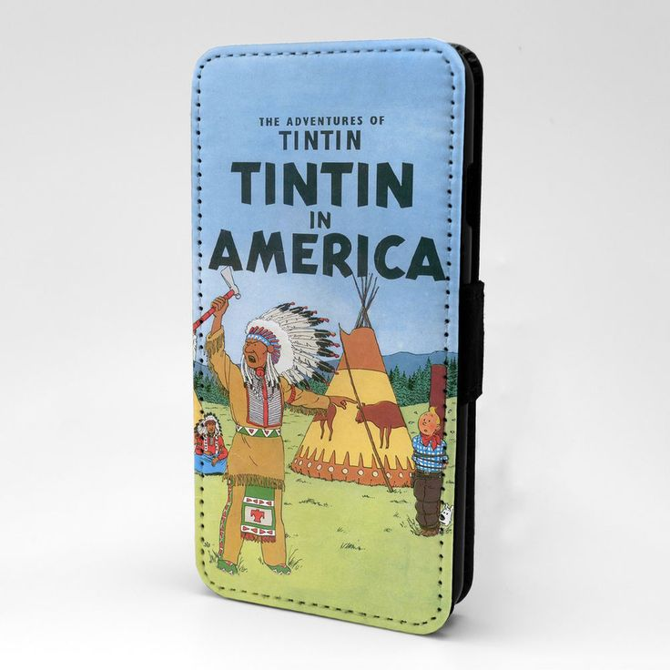 Tintin Cartoon Flip Case Cover For iPhone Samsung & Sony - G880 #Unbranded