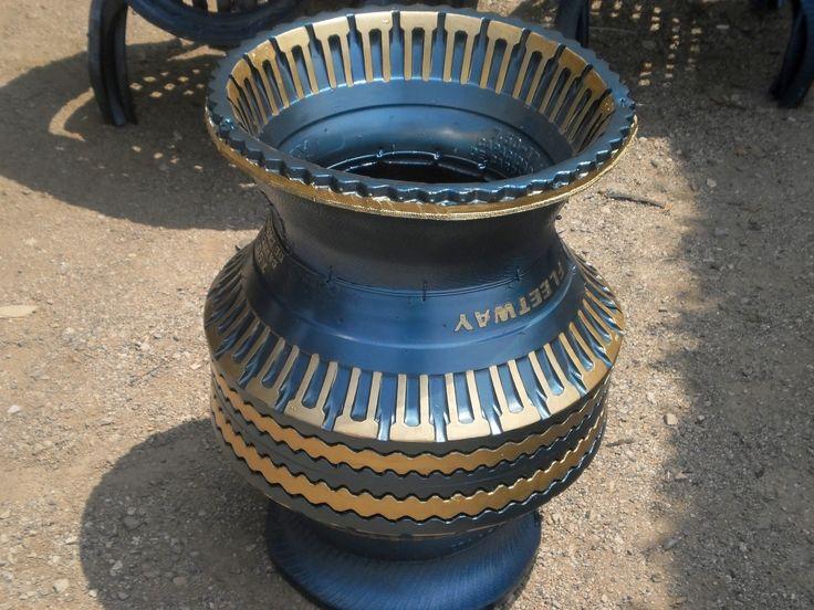 como reciclar llantas en macetas, como se hacen jarrones para macetas con material reciclado, utilizando la creatividad, como hacer jarrones decorativos para...