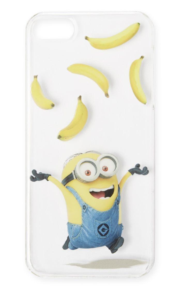 Minons Clear Banana iPhone Case