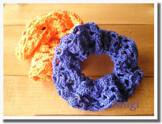 シンプルに☆フリフリさせない編みシュシュ♪の作り方|編み物|編み物・手芸・ソーイング|ハンドメイド・手芸レシピならアトリエ