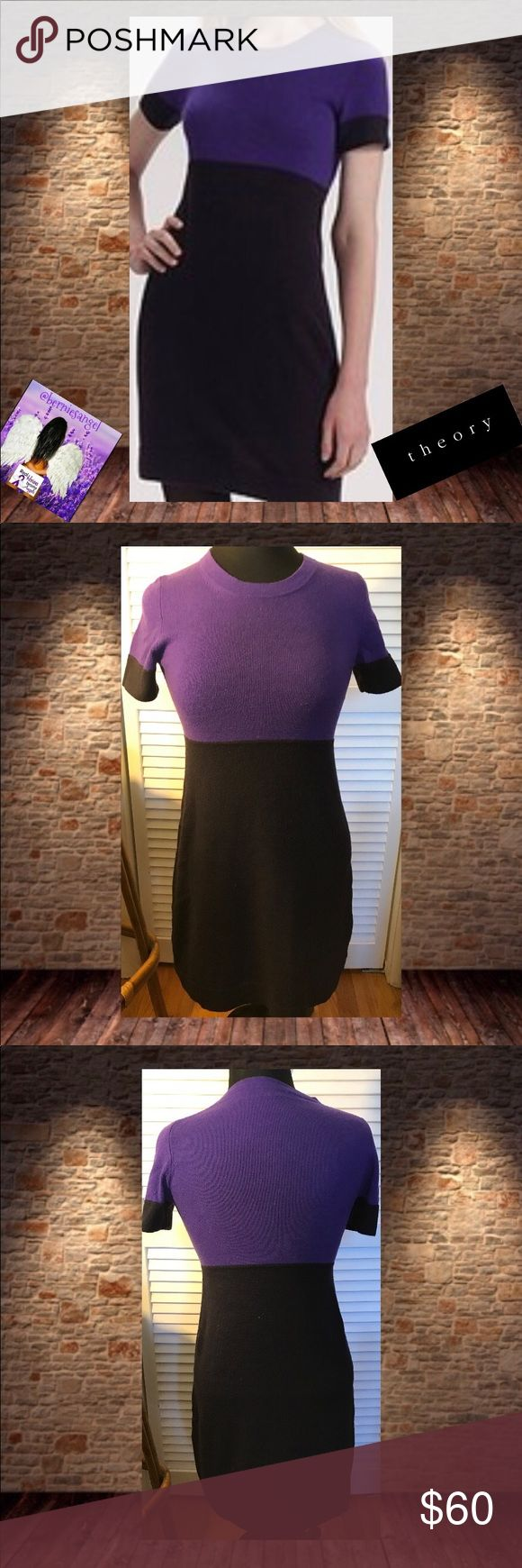 """Theory Color Block Vanella  Cashmere Dress S NWOT Theory Color Block Vanella  Cashmere Dress S NWOT Measurements (laid flat)  Shoulders 12""""  Underarms 14.75  Waist 13.75  Length 36.5  🚫trades. Please ask all questions prior to buying Theory Dresses Midi"""