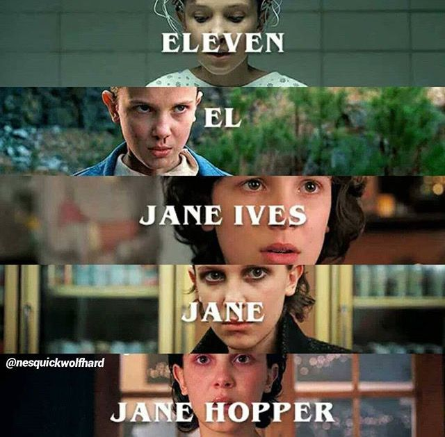 Stranger Things | Eleven, El, Janes Ives, Jane, Jane Hopper- Bitchin'. | also I can't wait for Jane Hopper to then become Jane Wheeler ;)