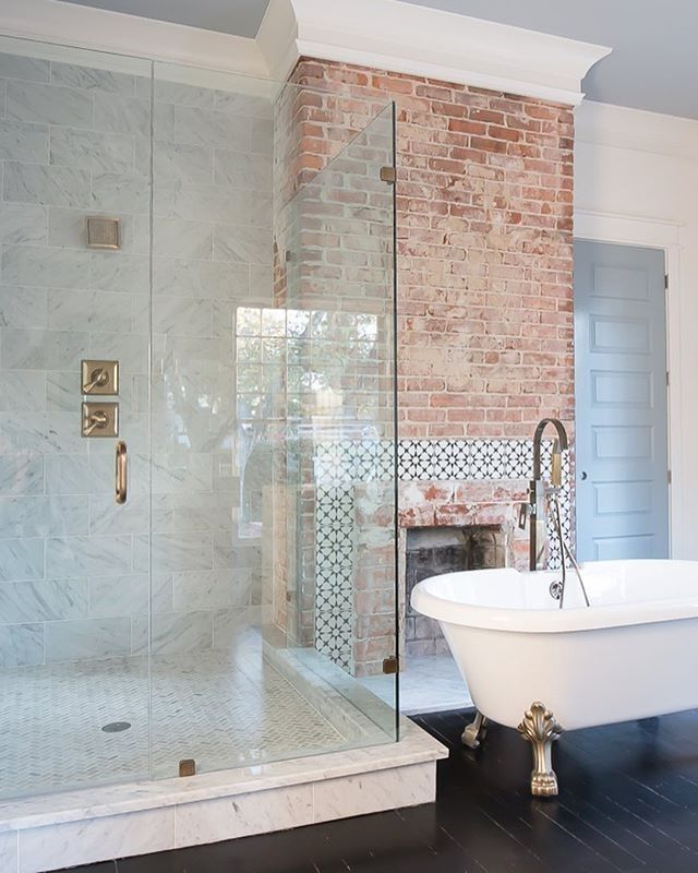 Best 25 Brick Bathroom Ideas On Pinterest Brick Veneer Wall Bathroom Brick Tiles | 640 X 800