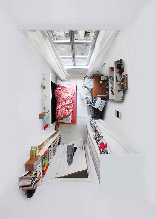 A Room With A View    Through challenging camera angles Menno Aden abstracts most familiar actual living environments and public interiors into flattened two-dimensional scale models.