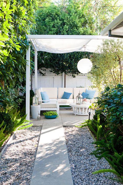Zonnedoek in de tuin   Interieur inrichting
